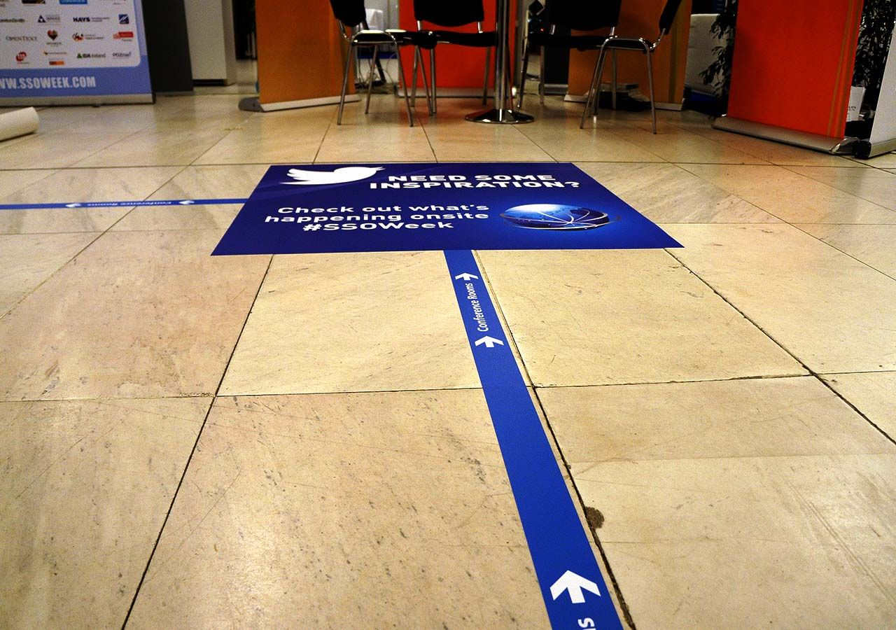 Floor graphics lookup prague for Floor stickers